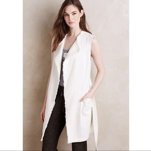 Anthropologie Elevenses Luna Frayed Vest Medium